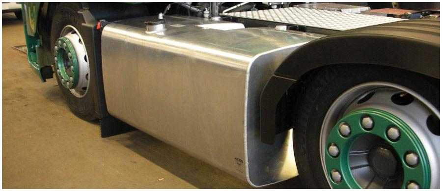 Aluminium dieseltank vrachtwagen